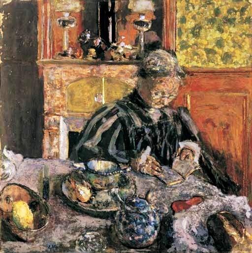 """© Jean Édouard Vuillard, """"Lesende Frau"""", 1910"""
